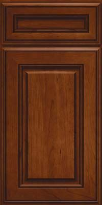 Square Raised Panel - Solid (AA5C) Cherry in Autumn Blush - Base - PAIRED W/ (AA6A)