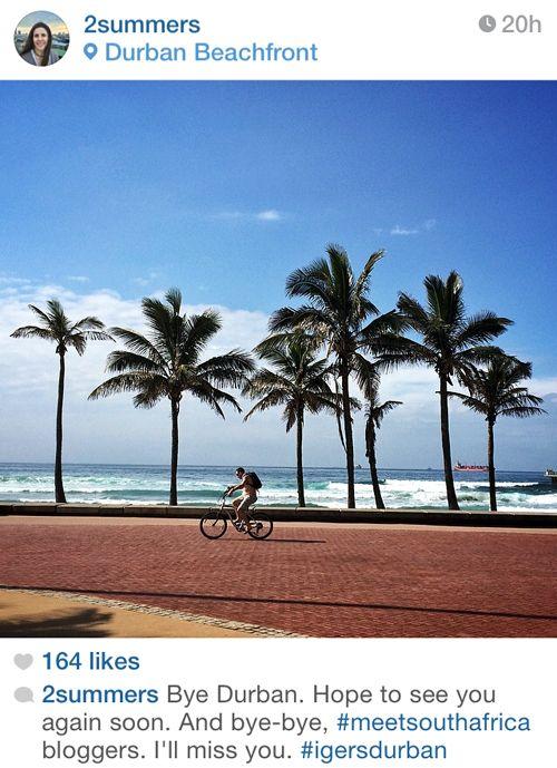 Durban beachfront. A Durban Sunday on the beach.