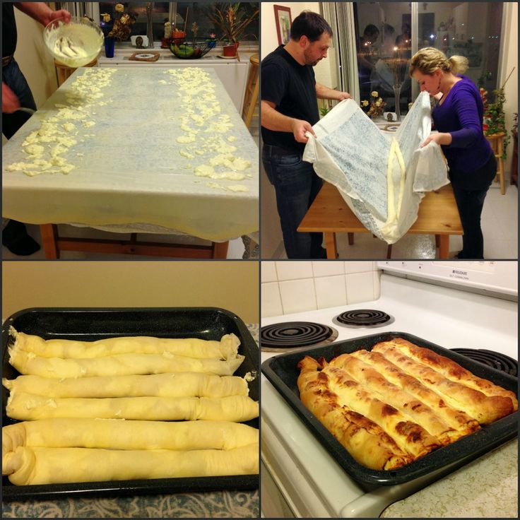World Traveler Recipes: Home Made Bosnian Pita: Burek and Sirnica (Phyllo Pies Filled With Meat and Cheese)
