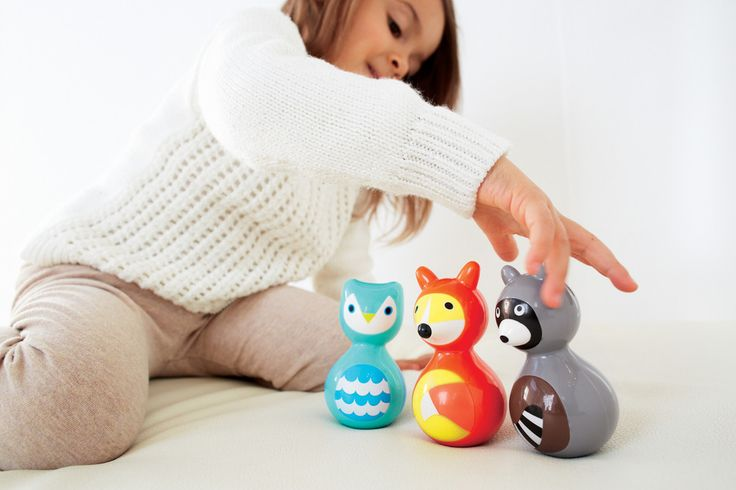 Woodland Wobbles - perfect toy for playing or displaying on a shelf! Liapela.com
