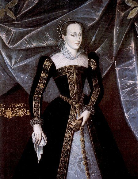 Mary, queen of Scots, c1565. This striking portrait of Mary was painted during her brief adult rule in Scotland.