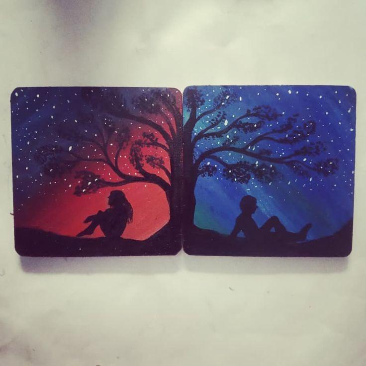 Beautiful coasters by my talented artists.  #artbasel #art #contemporaryart #art…