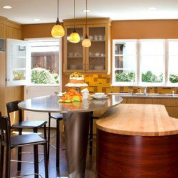 Photo of Custom Kitchens By John Wilkins - Oakland, CA, United States. kitchen, island, light fixtures, kitchen remodel
