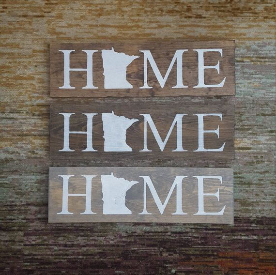 Minnesota Home Sign. State Home Decor. Rustic Home Sign. Rustic Home Decor. Reclaimed wood. MN Wall Art. Vintage Sign. Distressed Signs.