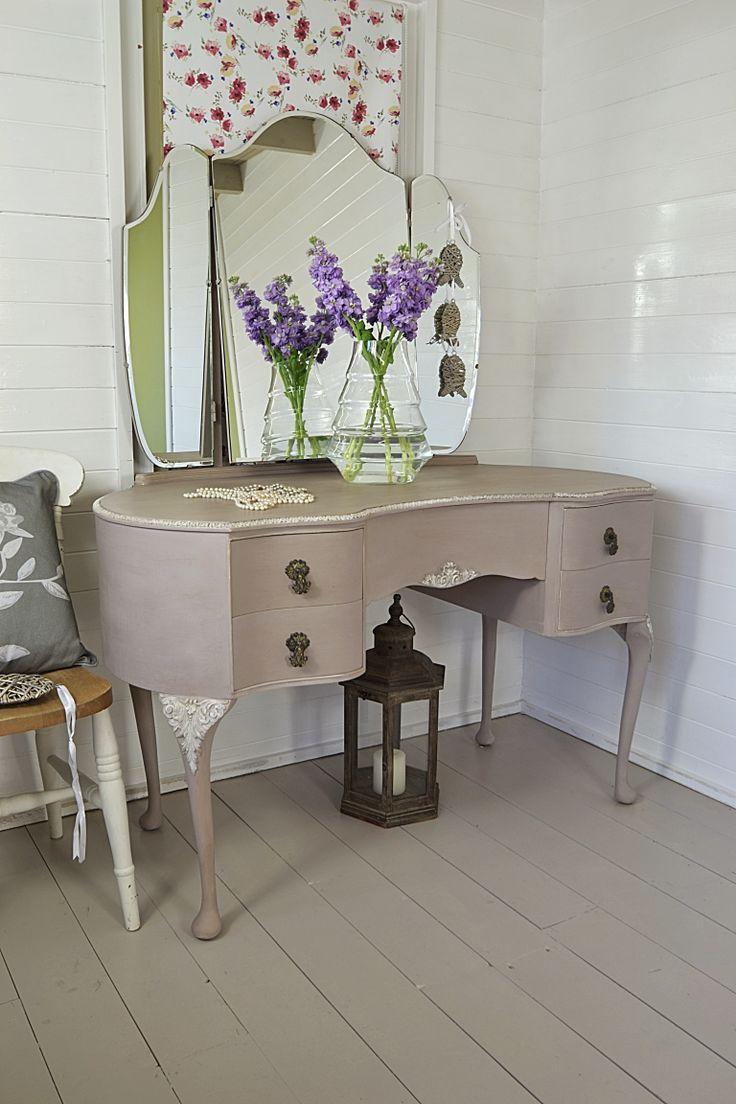39 best our dressing tables images on pinterest furniture this vintage french style dressing table has been painted in a mix of annie sloan coco geotapseo Gallery