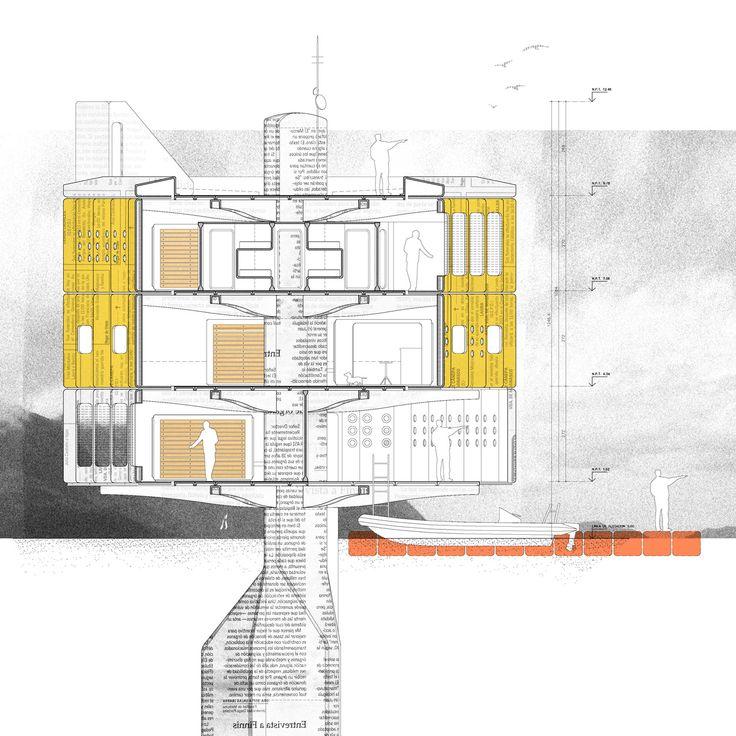 """El proyecto """"Desplazamiento Tecnológico"""", desarrollado por el arquitecto Benjamín Lezaeta, propone dos tipos de plata..."""
