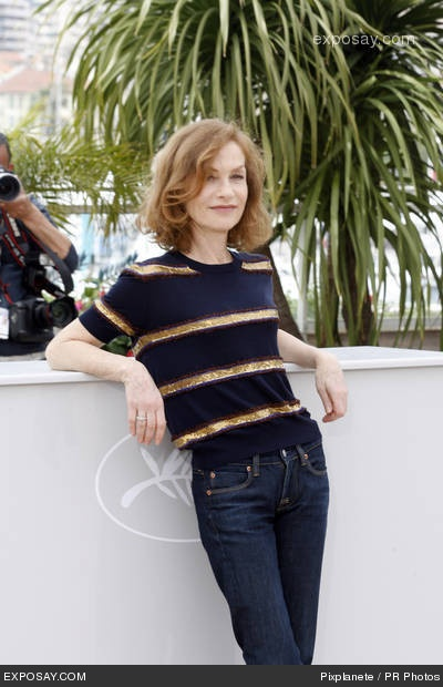 Isabelle Huppert. Casual chic at Cannes.