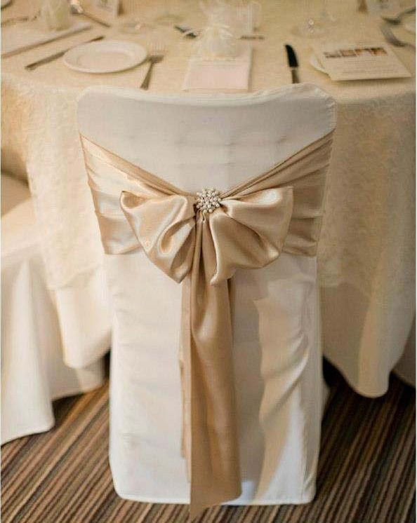 cream chair covers for weddings dining room chairs could do this in gray sashes bows wraps weddi