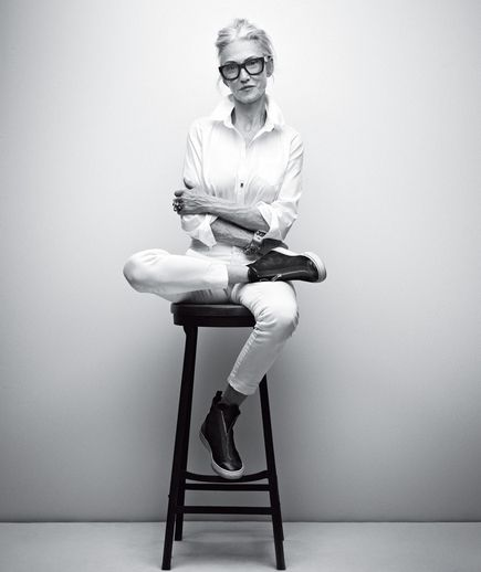 I'm so inspired by older women with a young attitude. This is Linda Rodin