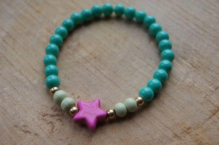 Armbandje Ster Turquoise