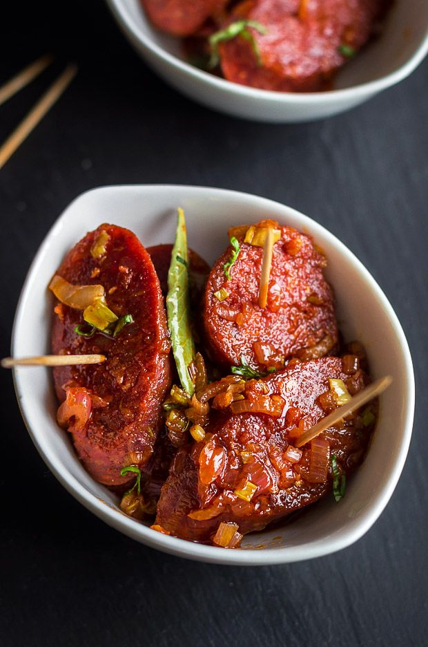 These apple cider glazed chorizo slices are easy, bite-size servings of tapas and make the ultimate Game Day appetizer!   eatwell101.com