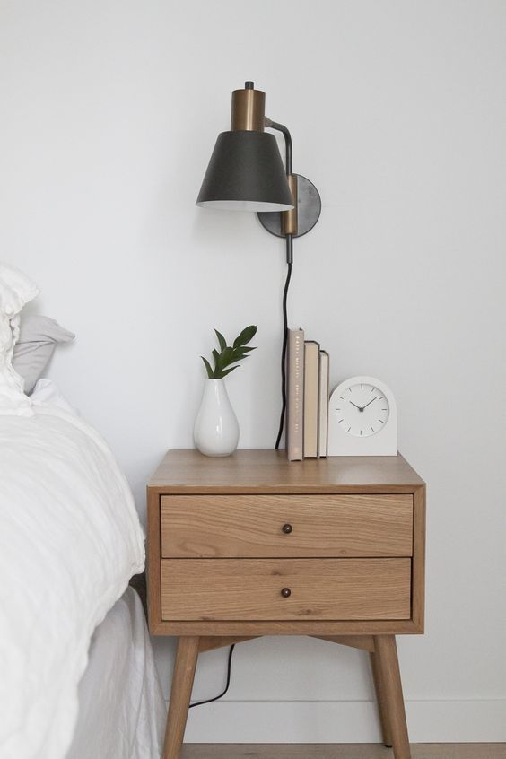 A Minimalist Nightstand   Styling Done Right
