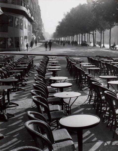 Café à la Villette, Paris, 1950s.  by Paul Almasy