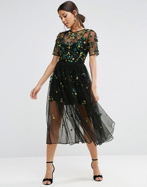 ASOS | ASOS Embellished Smock Dress