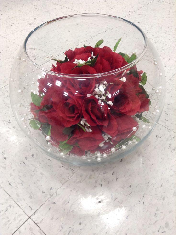 Rose Underwater Centerpiece : Best ideas about fish bowl centerpieces on pinterest