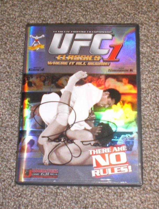 UFC 1 Champ Royce Gracie Signed DVD w Exact Proof | eBay