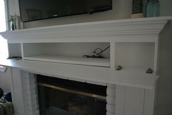tv over fireplace hidden components - Yahoo Image Search Results