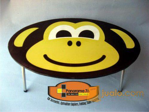 Meja Lipat Karakter Monyet Lucu untuk anak-anak Retail/Grosir Meja Lipat Karakter Lucu untuk anak-anak ,ringan dan ko