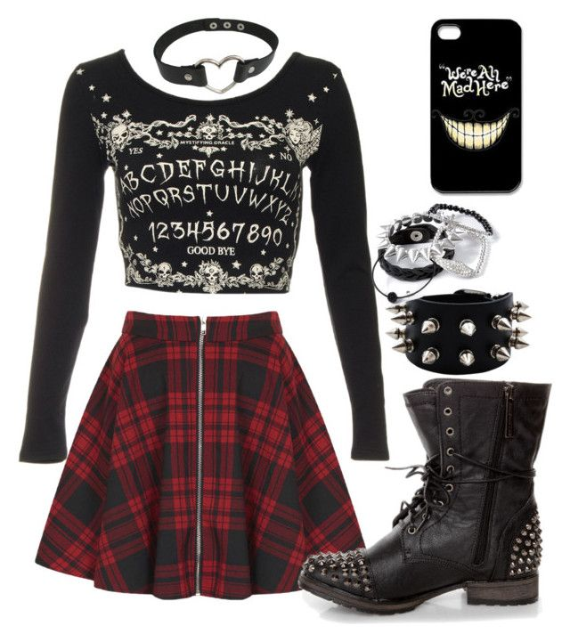 """Untitled #714"" by xkitten-pokerx ❤ liked on Polyvore featuring Oh My Love and claire's"