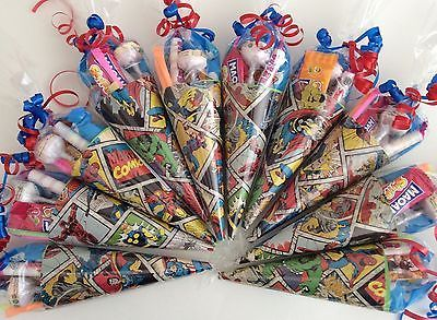 5-15 Marvel Super Hero themed sweet cones/party cones/party bags/party supplies