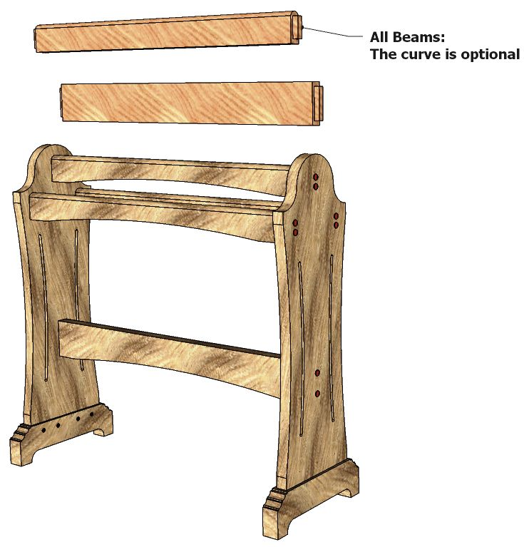 quilt rack plans | Quilt Rack # 072 | 3D WOODWORKING PLANS