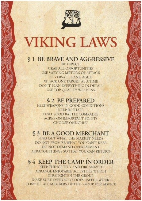 Viking Laws :)))) definitely true to the source