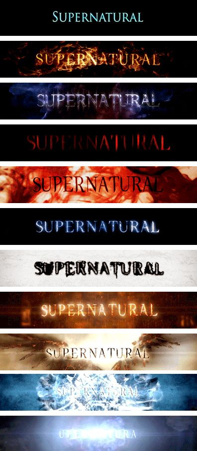 [gifset] Title Cards #Supernatural