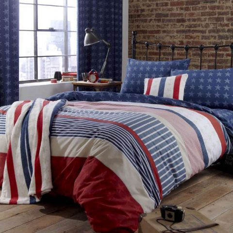 Stars and stripes bedding set. http://www.worldstores.co.uk/p/Catherine_Lansfield_Stars_and_Stripes_Bedding_Set.htm