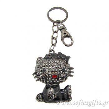 Μπρελόκ Hello Kitty black Νο 1 - Είδη σπιτιού και χειροποίητες δημιουργίες   Σοφία