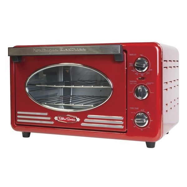 Nostalgia Red Convection Toaster Oven Retro Series Old Fashioned Vintage Appl #NostalgiaRTOVRETRORED