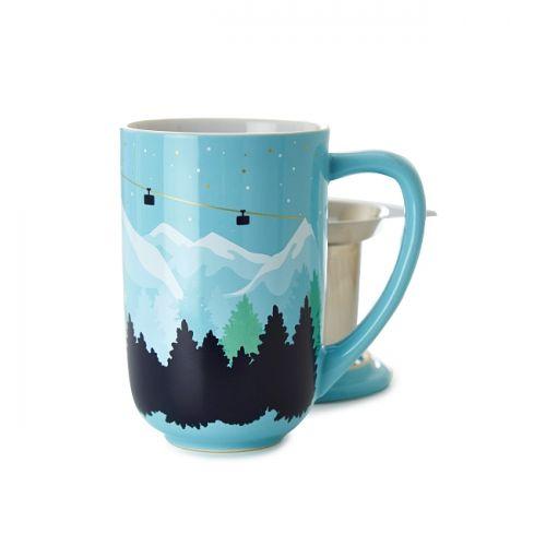 Snowy Mountain Colour Changing Nordic Mug