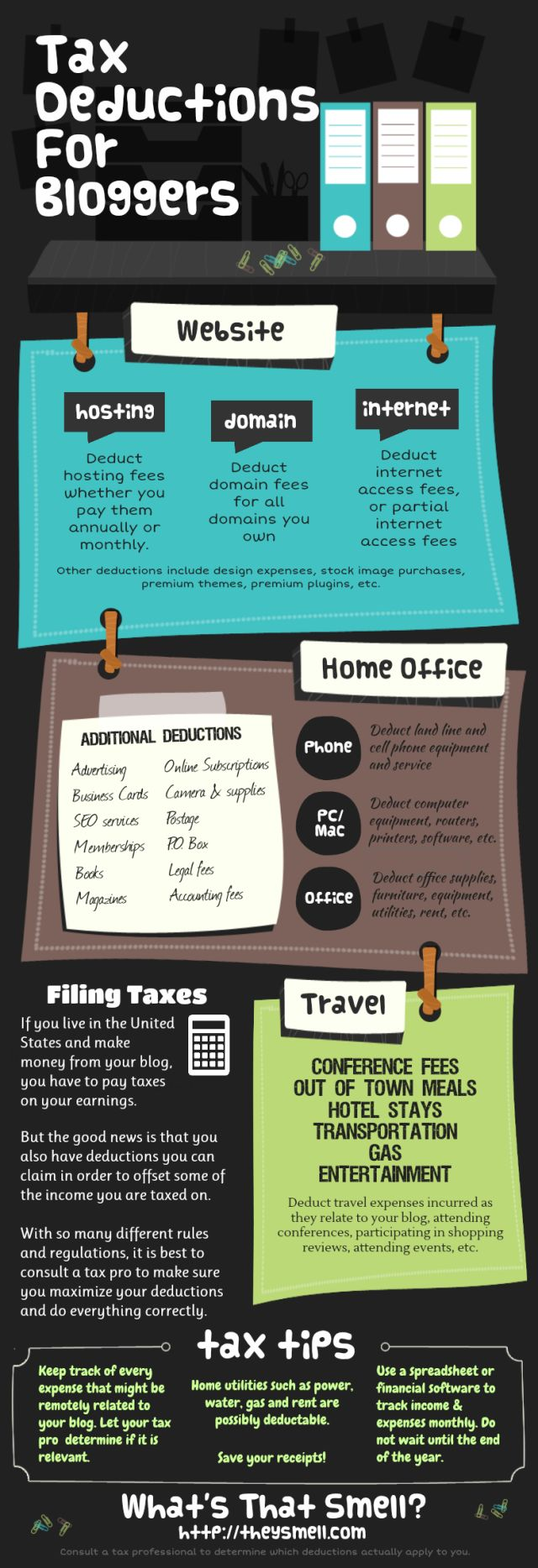 TAX DEDUCTIONS FOR BLOGGERS / Mar 20 '13