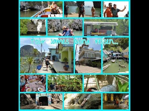 Diashow Tour mit Tiger: Ao Phang Nga Bucht - James Bond Felsen - Floating City - Hongs - Zoo - Affentempel