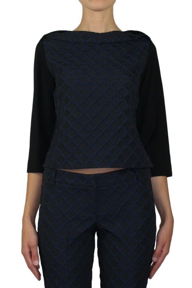 #Hanita #Blouse HM11201227 Color Blue shop online #fall_winter #2015_16  gemmaboutique.it