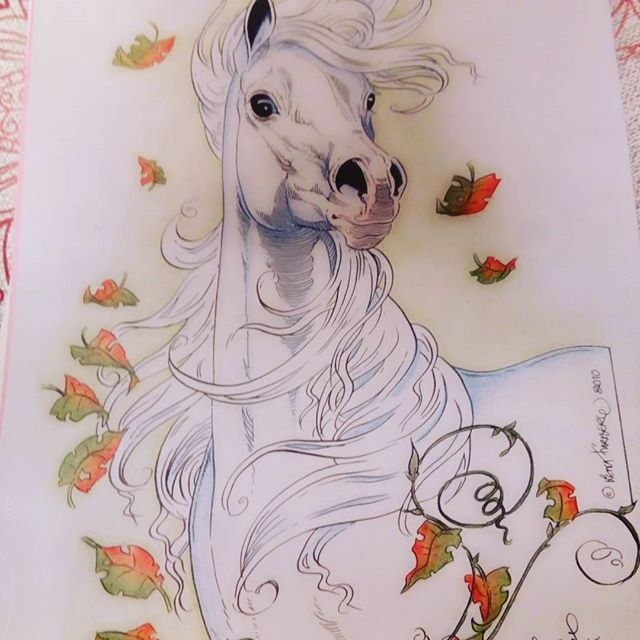 #Lenafurberg #coloringhorses