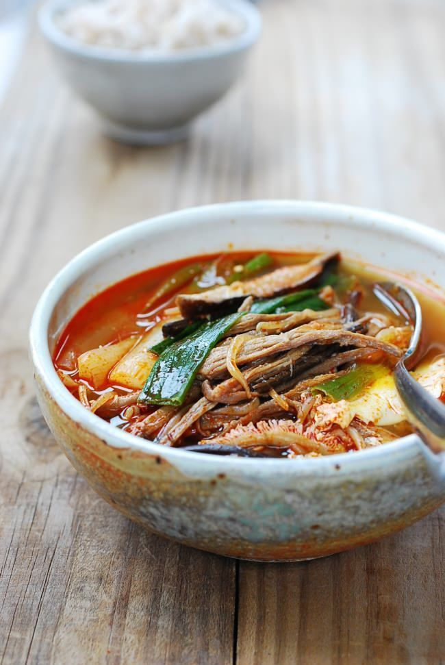 Yukgaejang (Spicy Beef Soup with Vegetables) #Korean