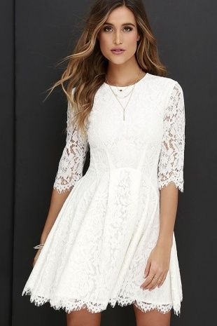 White Lace Dresses For Juniors
