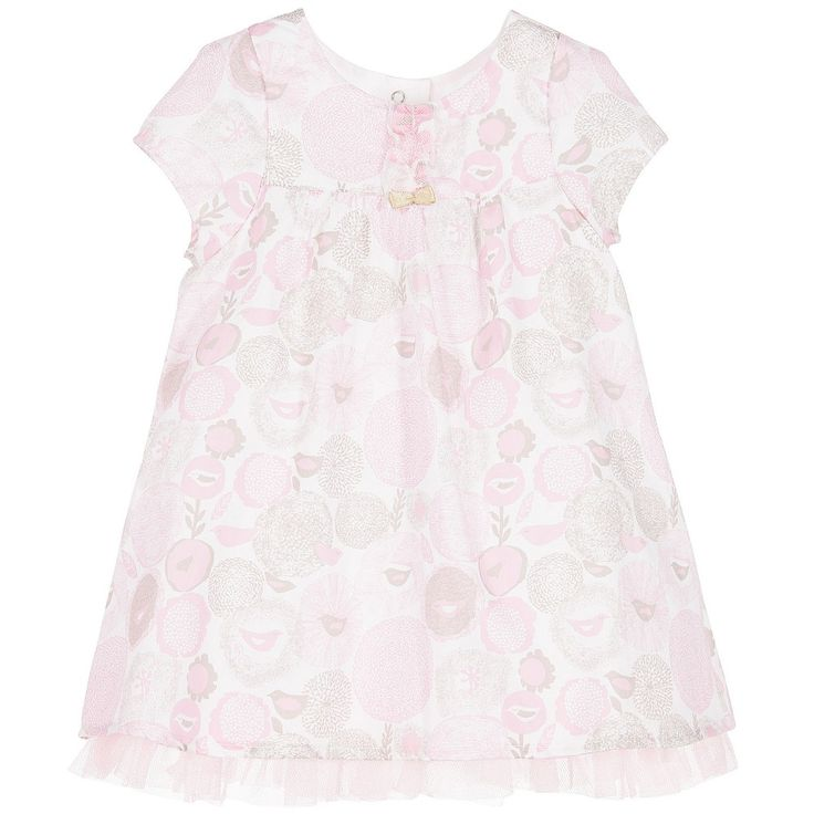 3Pommes - Baby Girls Pink Cotton Dress |