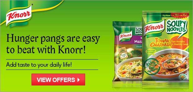 It is not wrong to say that the category of soups was launched by Knorr in India. The Knorr range of soups is available in a number of tasty & exciting varieties. There is a flavour to literally suit every taste palate; the Classic range of soups with flavours like Thick Tomato, Mixed Vegetable & Chicken Delite