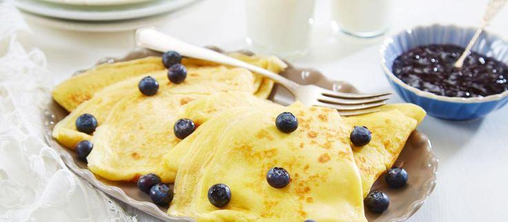 Oppskrift på pannekaker, foto:
