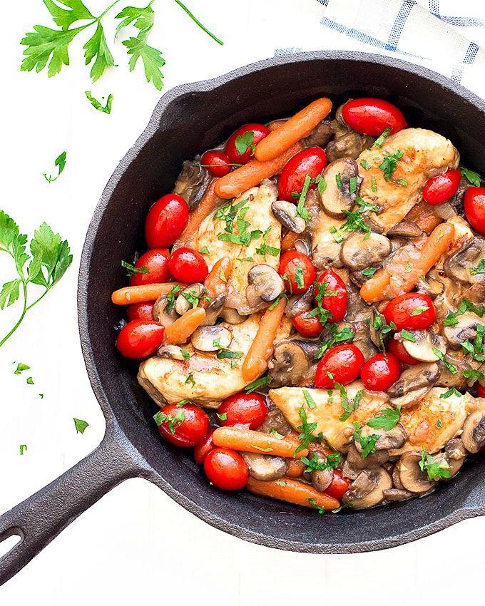 easy chicken and veggies skillet