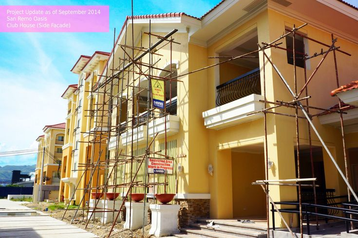 Sanremo Oasis at Citta di Mare Cebu Updates: Here the actual photos taken by Filinvest International Team at the San Remo Oasis Project, Ci