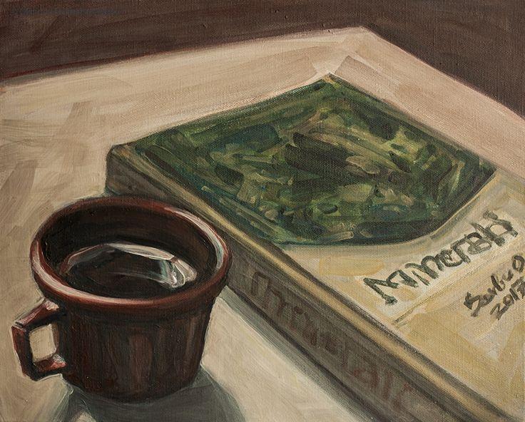 It's coffee time! painting by Olimpia Hinamatsuri Barbu