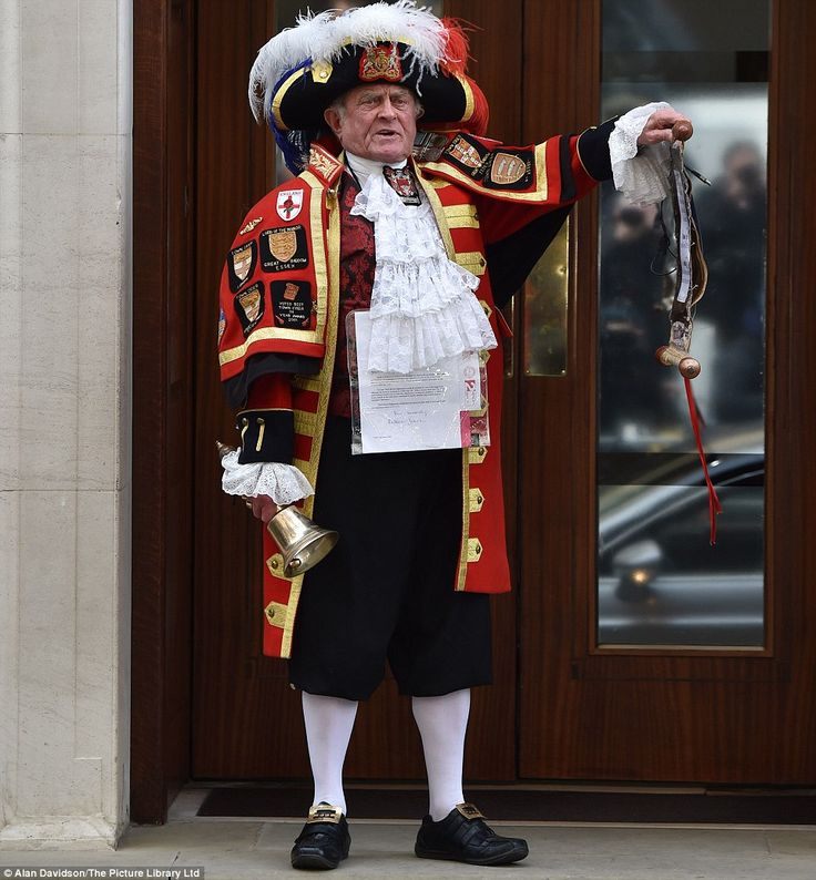 A town crier celebrated the little princess's birth this morning, announcing her birth on the steps of the Lindo Wing shortly after 11am