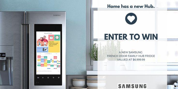 Enter to Win a Samsung Family Hub French Door Fridge