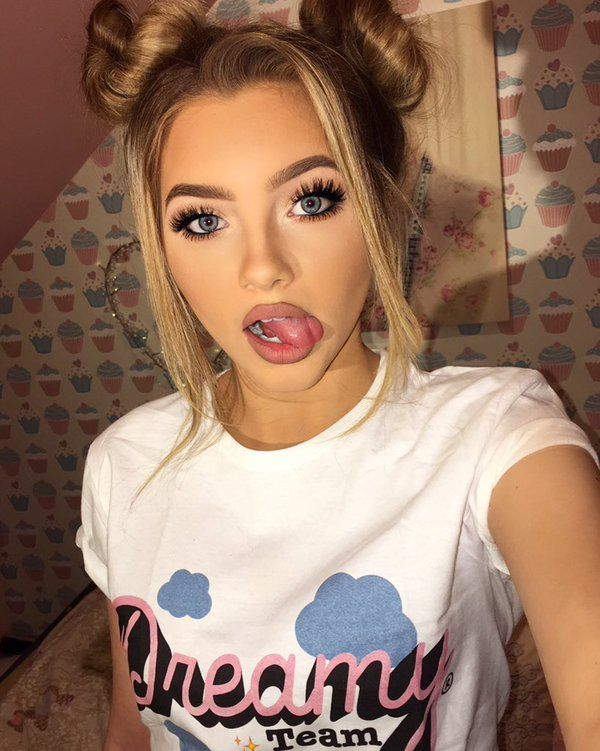 sophia mitchell is a dream girl in feathery lashes and ...
