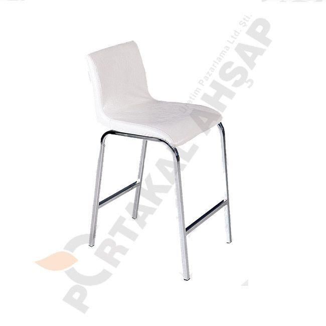 Metal Sandalye - Portakal Ahşap