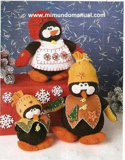 Patrones de pinguinos Navideños ~ Mimundomanual