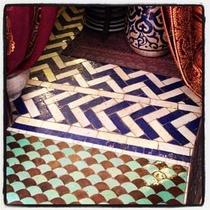 Gorgeous chevron tile pattern...Marrakech, Morocco: Gorgeous Chevron, Floors Patterns Marrakech, Tile Patterns, Chevron Tile, Tile Floors Patterns, Marrakech Morocco, Handmade Tile, Tile Grout, Chevron Floors