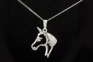 Silhouette horse head necklace - County Equestrian Jewellers